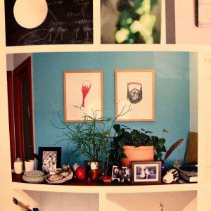 青い壁がかわいい(。・ω・。)ノ♡